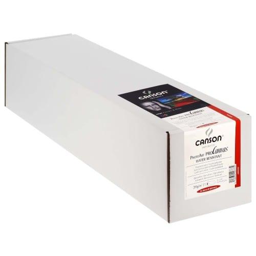 """Toile canvas jet d'encre CANSON Infinity PhotoArt ProCanvas Water Résistant Polycoton lustré 395g - 24"""" (61cm) - 12,2m"""