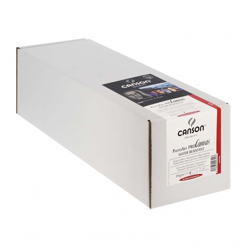 """Toile canvas jet d'encre CANSON Infinity PhotoArt ProCanvas Water Résistant Polycoton mat 395g - 17"""" (43,2cm) - 12,2m"""