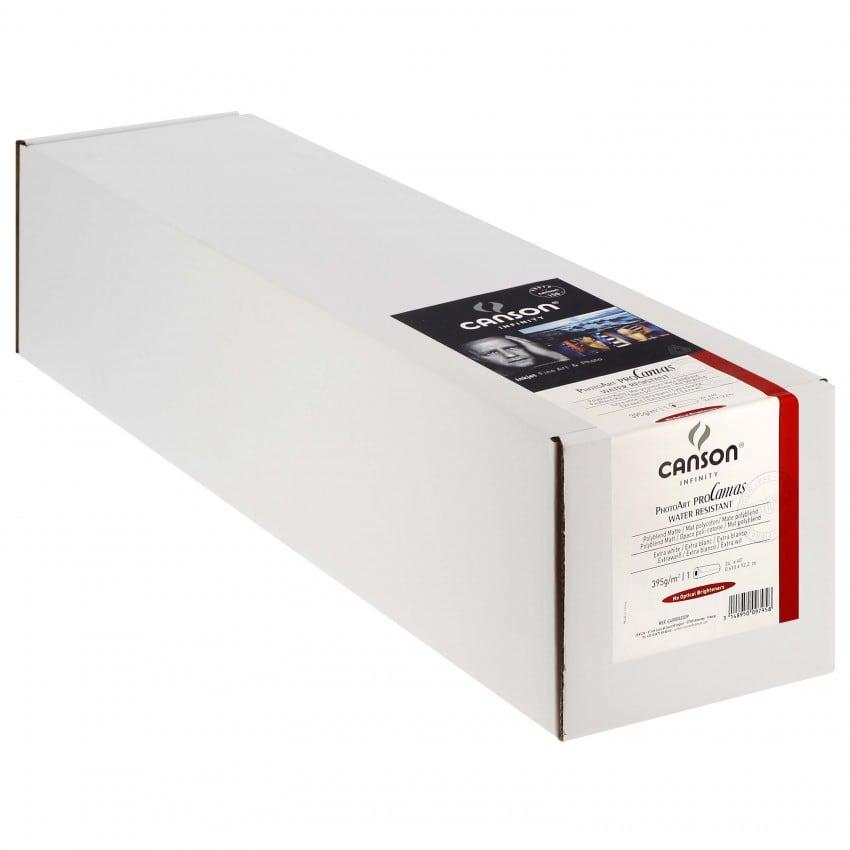 """Toile canvas jet d'encre CANSON Infinity PhotoArt ProCanvas Water Résistant Polycoton mat 395g - 24"""" (61cm) - 12,2m"""