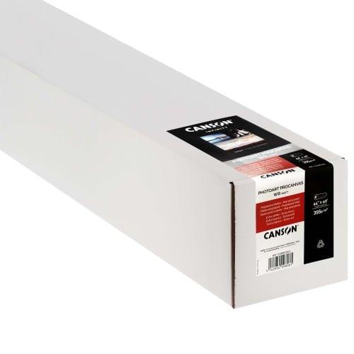 """Toile canvas jet d'encre CANSON Infinity PhotoArt ProCanvas Water Résistant Polycoton mat 395g - 44"""" (111,8cm) - 12,2m"""
