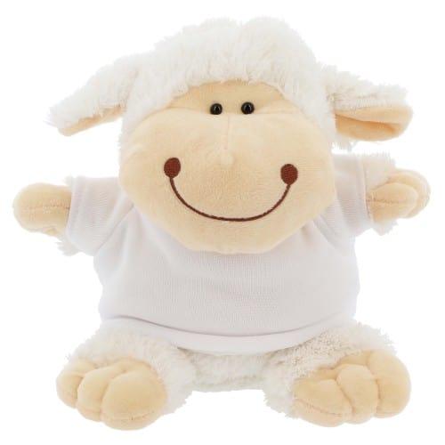 Peluche Mouton + T-shirt blanc  - Hauteur 21cm