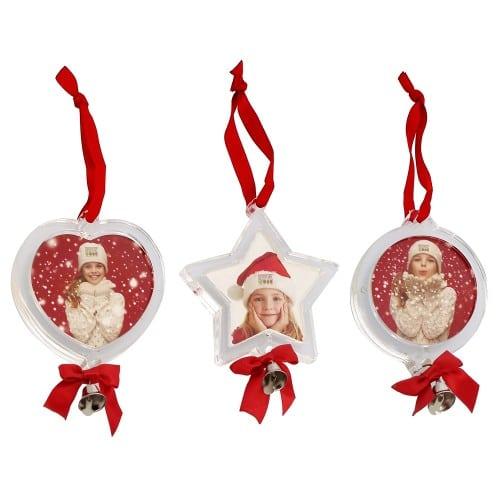 Boule de Noël Cœur, Etoile ou Rond - Livraison modèle aléatoire si 1 commandé ou 1 de chaque si 3 commandés