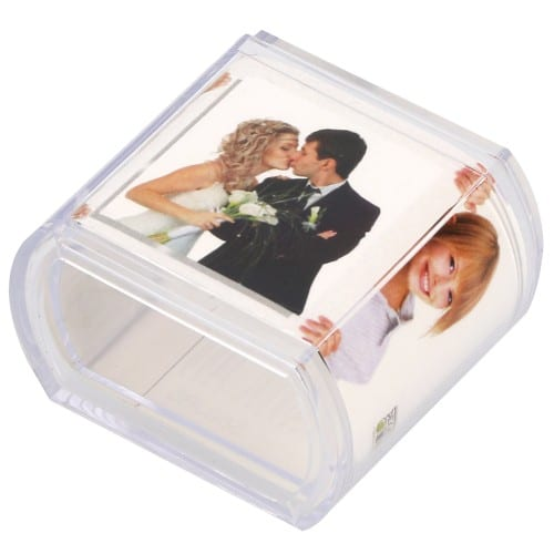 DEKNUDT - Rond de serviette - 4x4cm - Résine transparente - Pour photo 3.7x14.5 cm