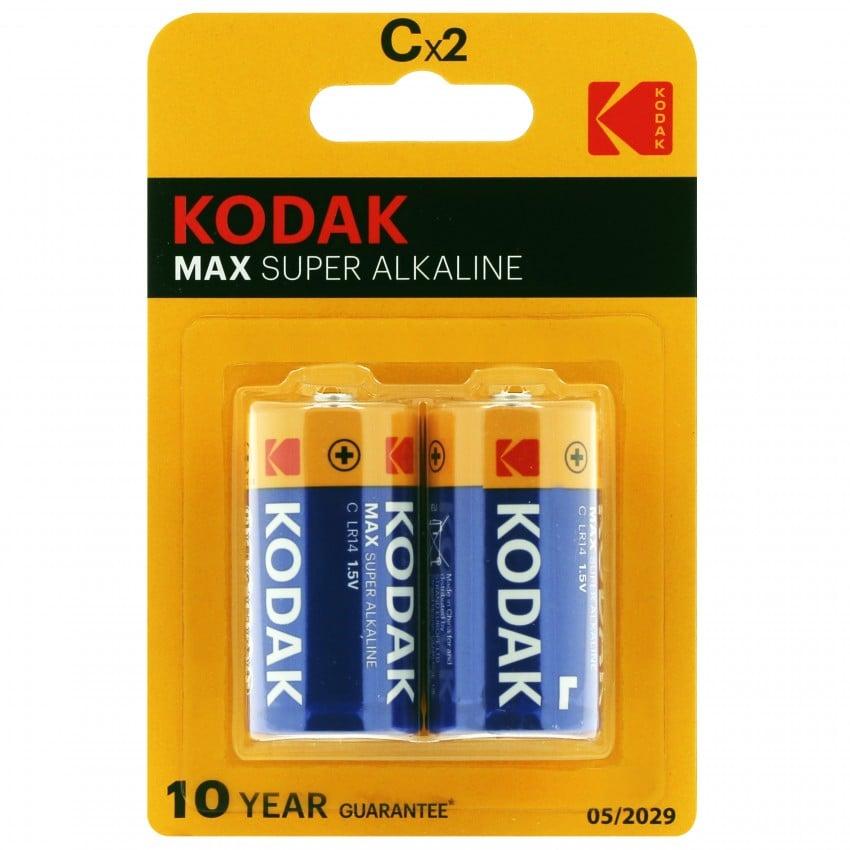 Pile alcaline LR14 KC2 AM2 1,5V KODAK MAX Blister de 2 piles