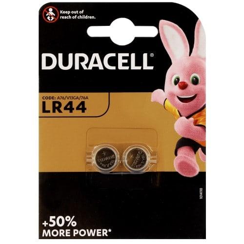Pile alcaline LR44 A76 1,5V DURACELL Blister de 2 piles