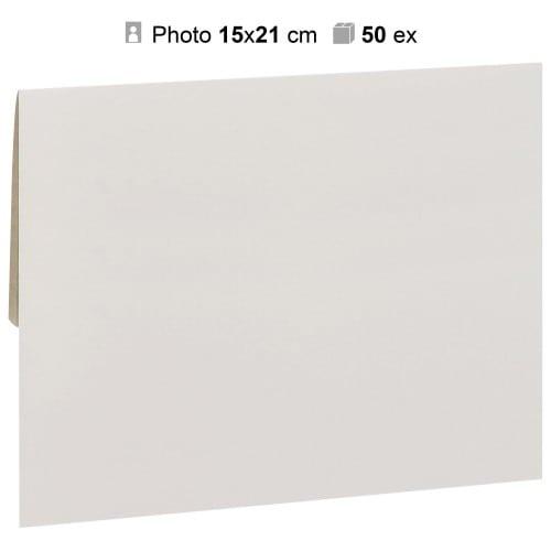 MB TECH - Pochette agrandissement 17x23cm Blanche pour photo 15x21cm - Carton de 50