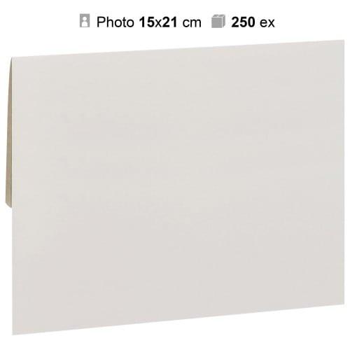 MB TECH - Pochette agrandissement 17x23cm Blanche pour photo 15x21cm - Carton de 250