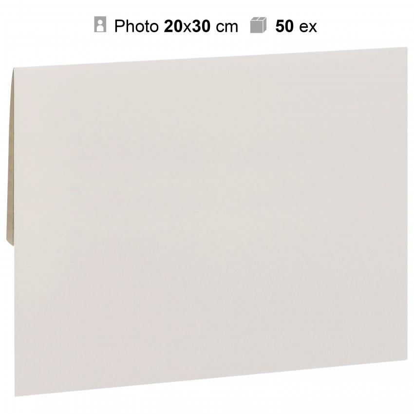 Pochette agrandissement MB TECH 22x32cm Blanche pour photo 20x30cm - Carton de 50