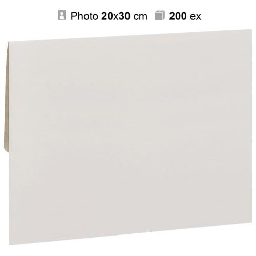 MB TECH - Pochette agrandissement 22x32cm Blanche pour photo 20x30cm - Carton de 200