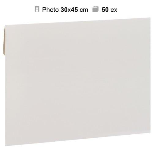 MB TECH - Pochette agrandissement 32x47cm Blanche pour photo 30x45cm - Carton de 50