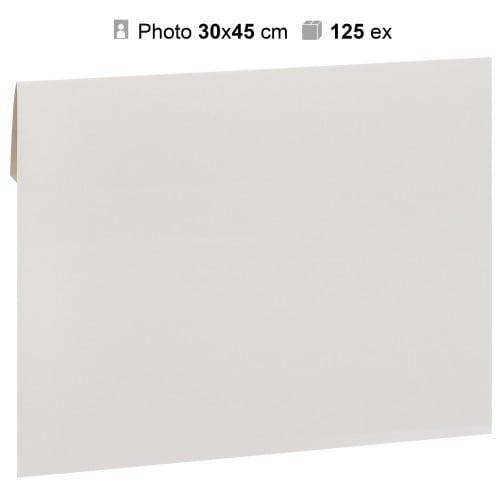 MB TECH - Pochette agrandissement 32x47cm Blanche pour photo 30x45cm - Carton de 125