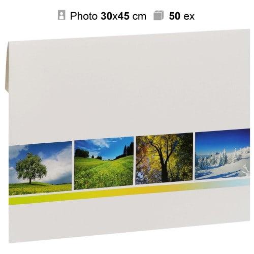 MB TECH - Pochette agrandissement 32x47cm Gamme 4 SAISONS pour photo 30x45cm - Carton de 50