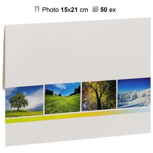 MB TECH - Pochette agrandissement 17x23cm Gamme 4 SAISONS pour photo 15x21cm - Carton de 50
