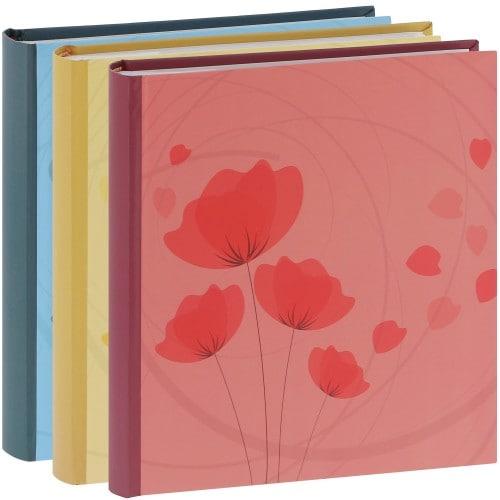 ERICA - Album photo pochettes avec mémo ELLYPSE 2 - 100 pages blanches - 200 photos - Couverture Multicolore 24x24,8cm - Lot de 3 albums