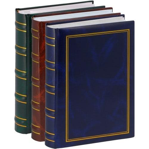 ERICA - Album photo pochettes avec mémo MARBRE 2 - 100 pages blanches - 200 photos - Couverture Multicolore 20x27,6cm - Lot de 3 albums