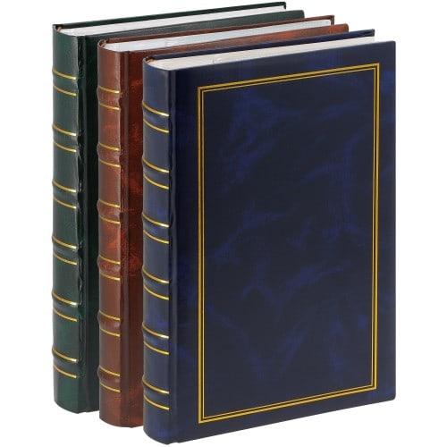 ERICA - Album photo pochettes avec mémo MARBRE 2 - 100 pages blanches - 300 photos - Couverture Multicolore 23,5x36,5cm - Lot de 3 albums