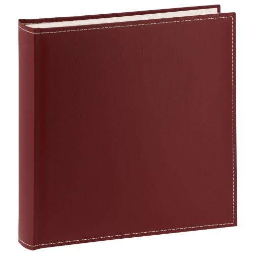 traditionnel CEZANNE - 100 pages blanches + feuillets cristal - 400 photos - Couverture Bordeaux 30x31cm
