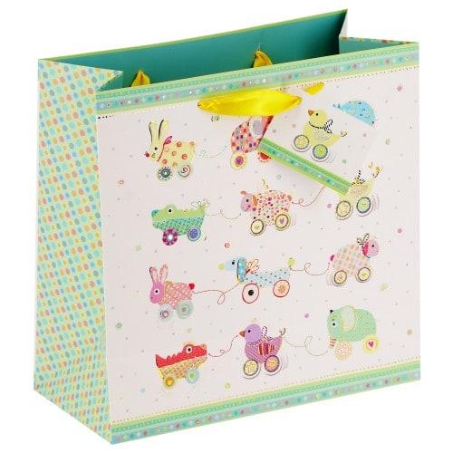 Goldbuch Sac cadeau Animals on Wheels 27x13x27