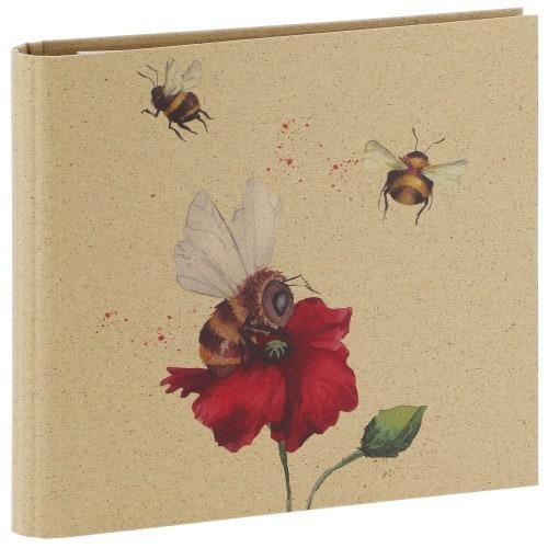 GOLDBUCH - Classeur avec anneaux GREEN VIBES - 50 pages blanches - 100 photos - Couverture Multicolore 25,5x27,5cm