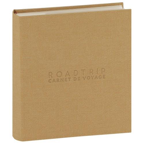 PANODIA - Carnet de voyage pochettes avec mémo MADAGASCAR - 100 pages blanches - 200 photos - Couverture Marron 22x25cm