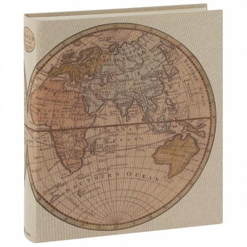 PANODIA - Album photo traditionnel MAP MONDE - 100 pages blanches + feuillets cristal - 500 photos - Couverture 33x37cm