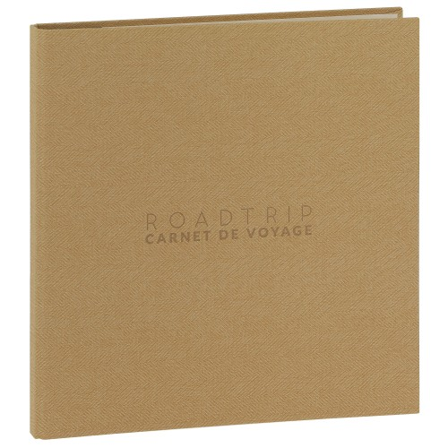 PANODIA - Carnet de voyage MADAGASCAR - 60 pages blanches traditionnelles - 300 photos - Couverture Marron 33x34cm