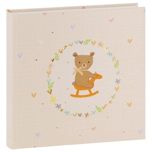 GOLDBUCH - Album photo traditionnel ROCKING BEAR - 60 pages blanches + feuillets cristal - 120 photos - Couverture 25x25cm