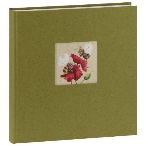 GOLDBUCH - Album photo traditionnel GREEN VIBES - 60 pages blanches + feuillets cristal - 240 photos - Couverture Verte 30x31cm + fenêtre