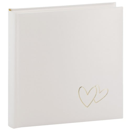 GOLDBUCH - Album photo traditionnel Mariage CUORI - 100 pages blanches + feuillets cristal - 400 photos - Couverture Blanche 30x31cm