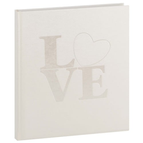 GOLDBUCH - Livre d'or Mariage WHITE LOVE - 176 pages blanches - Couverture Blanche 23x25cm