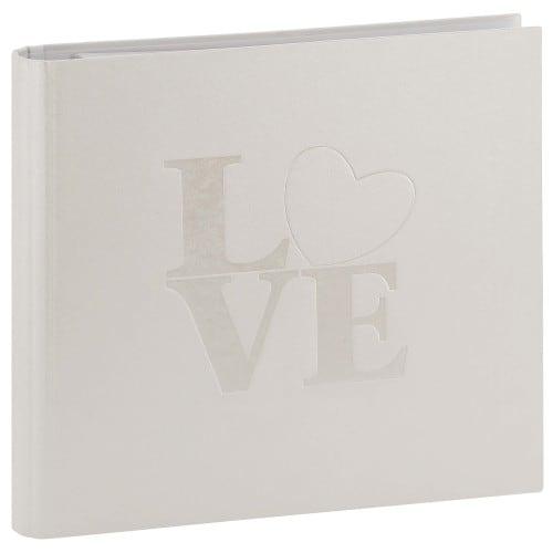 GOLDBUCH - Classeur avec anneaux Mariage WHITE LOVE - 50 pages blanches - 100 photos - Couverture Blanche 25,5x27,5cm