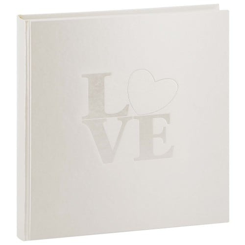 GOLDBUCH - Album photo traditionnel Mariage WHITE LOVE - 60 pages blanches + feuillets cristal - 240 photos - Couverture Blanche 30x31cm
