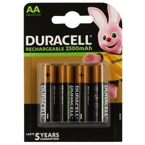 Piles rechargeables DURACELL Stay Charged LR6 (AA) NiMH 2400mAh Blister de 4 piles