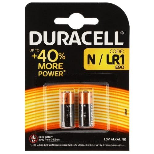 Pile alcaline LR1 MN9100 AM5 1,5V DURACELL Blister de 2 piles