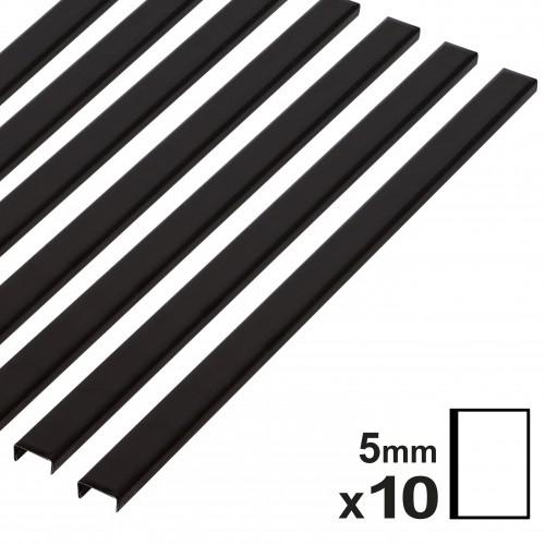 Baguette couverture album OPUS pour 20x30cm portrait 5mm noire 10 pces