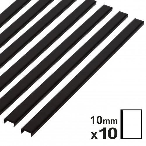 Baguette couverture album OPUS pour 20x30cm portrait 10mm noire 10 pces