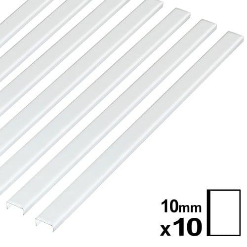Baguette couverture album OPUS pour 20x30cm portrait 10mm blanche 10 pces