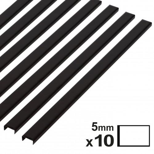Baguette couverture album OPUS pour 20x30cm paysage 5mm noire 10 pces