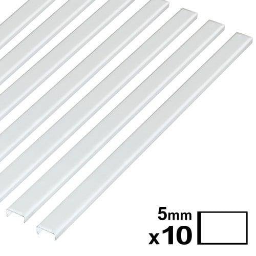 Baguette couverture album OPUS pour 20x30cm paysage 5mm blanche 10 pces