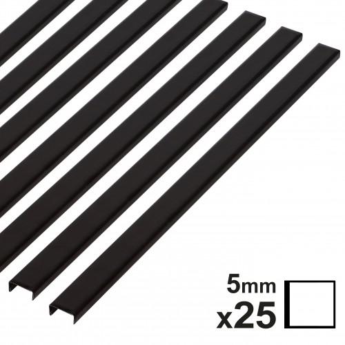 Baguette couverture album OPUS pour 20x20cm 5mm noire 25 pces