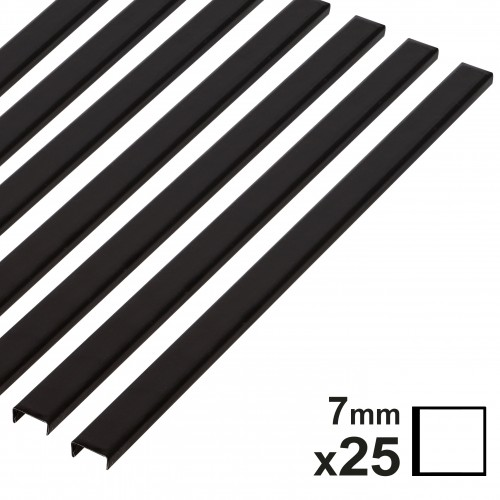 Baguette couverture album OPUS pour 20x20cm 7mm noire 25 pces