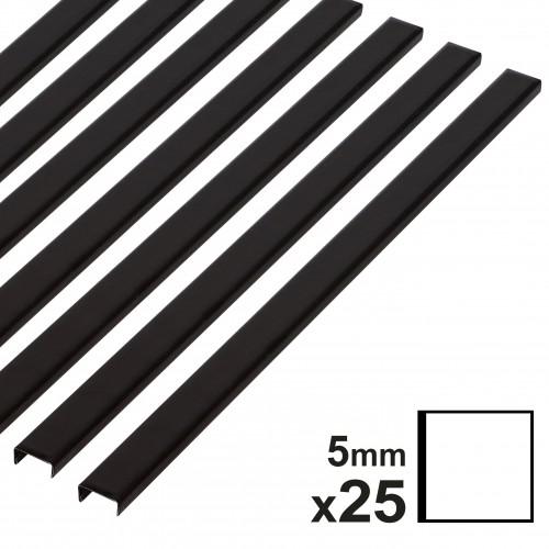 Baguette couverture album OPUS pour 30x30cm 5mm noire 25 pces