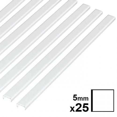 Baguette couverture album OPUS pour 30x30cm 5mm blanche 25 pces