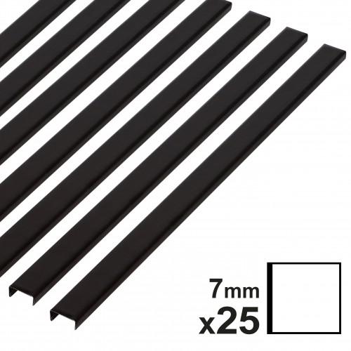 Baguette couverture album OPUS pour 30x30cm 7mm noire 25 pces