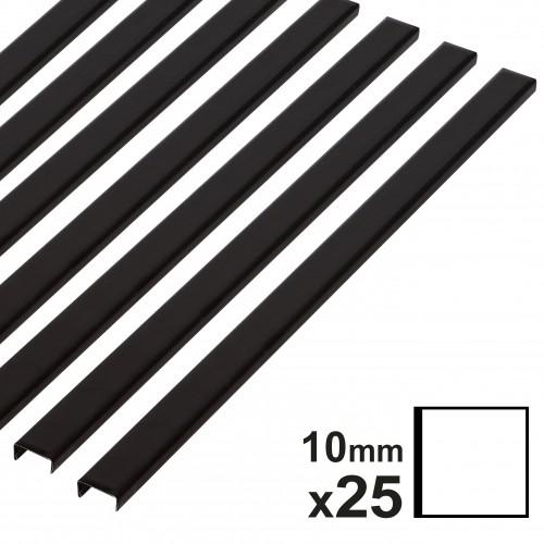 Baguette couverture album OPUS pour album 30x30cm - 10mm - noire - 25 pièces