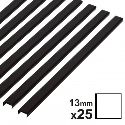 Baguette couverture album OPUS pour 30x30cm 13mm noire 25 pces
