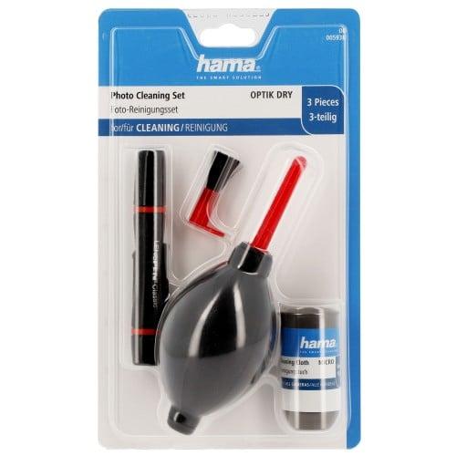 HAMA - Kit de nettoyage ''Optic Dry Basic'' - pour objectif - 3 pièces