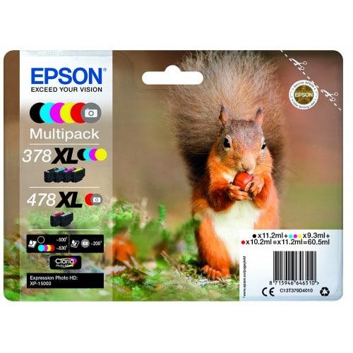 Pack 6 couleurs 378XL et 478XL - pour imprimantes XP-15000