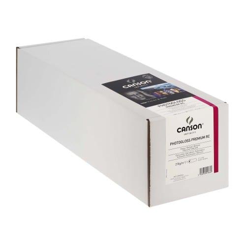 """Papier jet d'encre CANSON Infinity Photogloss Premium RC extra blanc 270g - 17"""" (43,2cm) - 30,48m"""
