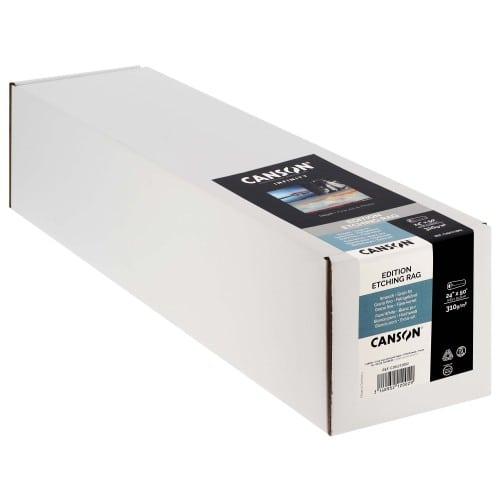 """Papier jet d'encre CANSON Infinity Edition Etching Rag blanc mat 310g - 24"""" (61cm) - 15,24m"""